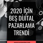 2020 için Beş Dijital Pazarlama Trendi